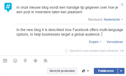 Facebookposts in meerdere talen