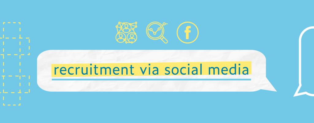 Recruitment via social media